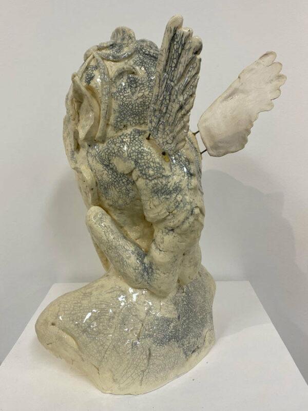 Lauren Rudd Mischief Out Of Control Sculpture Back
