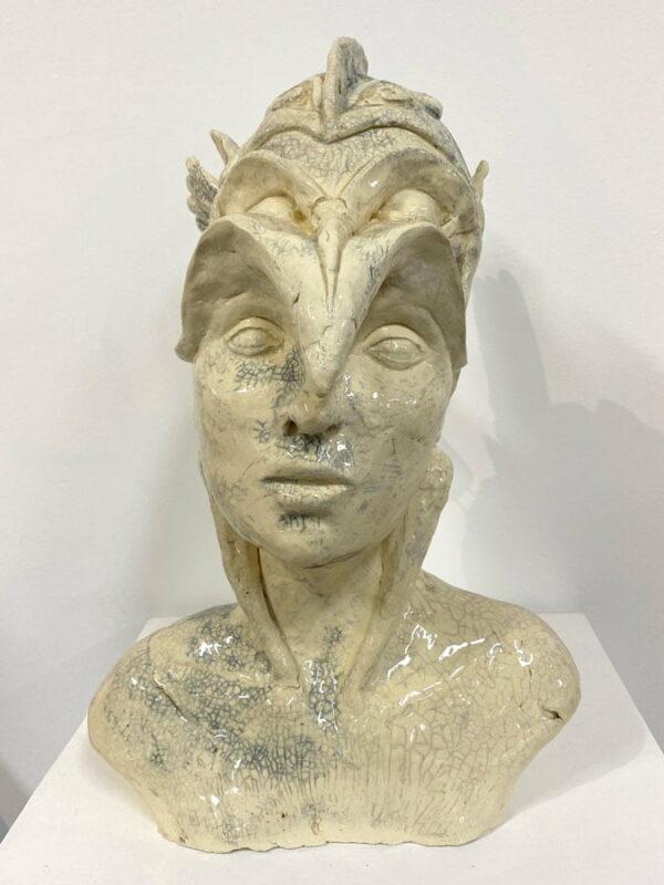 Lauren Rudd Mischief Out Of Control Sculpture Front