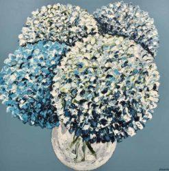 Felicia Aroney   Hydrangeas On Sky Blue Fine Art