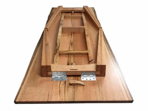 Foldaway Marri Timber Table Folded