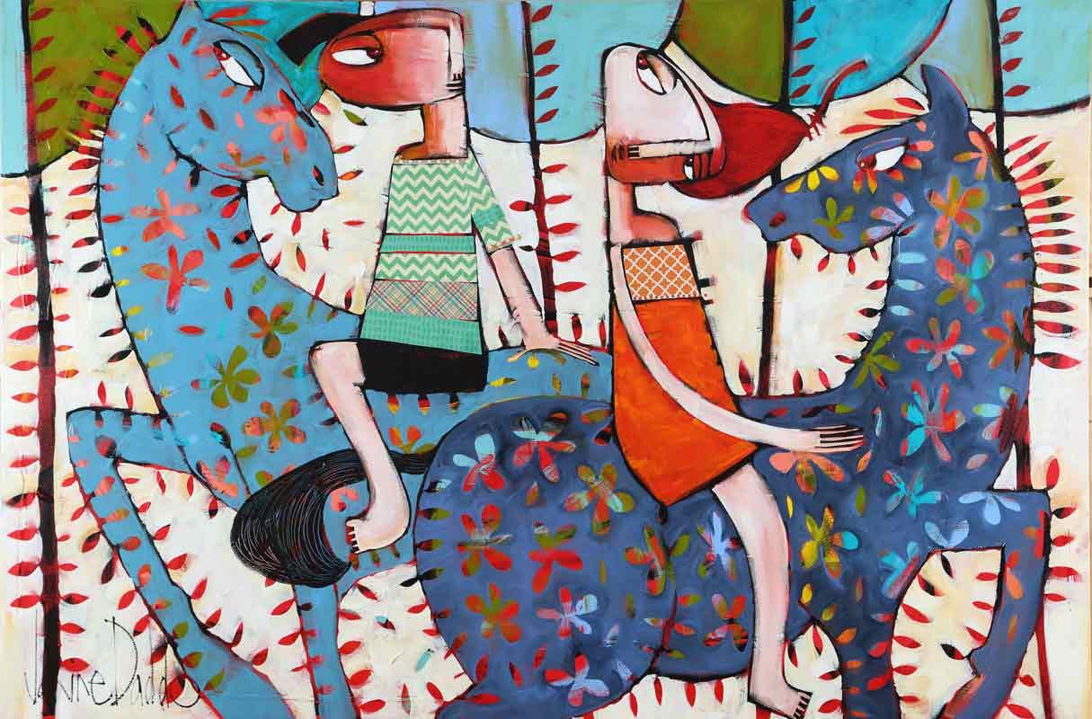 Janine Daddo Chance Meeting Painting