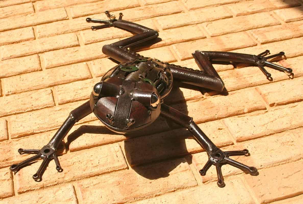 Jordan Sprigg Australian Tree Frog Metal Sculpture 2