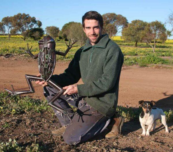 Jordan Sprigg Australian Tree Frog Metal Sculpture 3