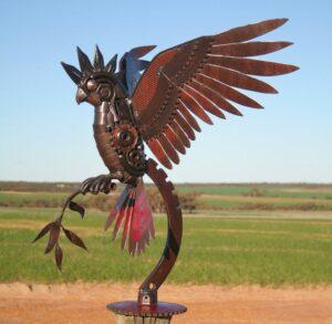 Jordan Sprigg Cockatoo Metal Sculpture3