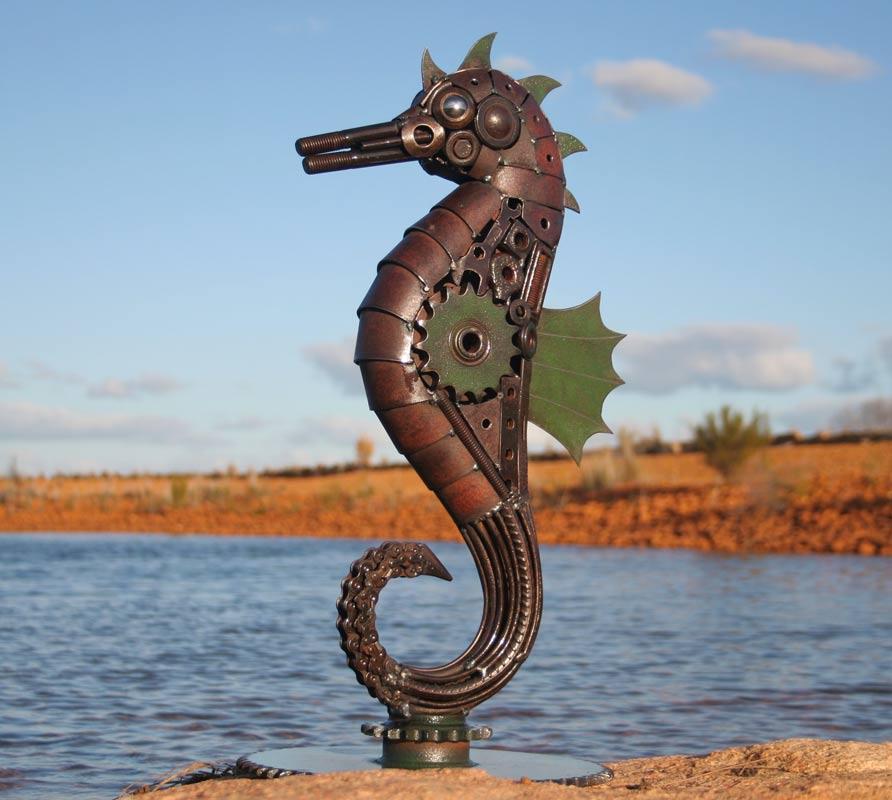 Jordan Sprigg The Hippocampus Metal Sculpture 4