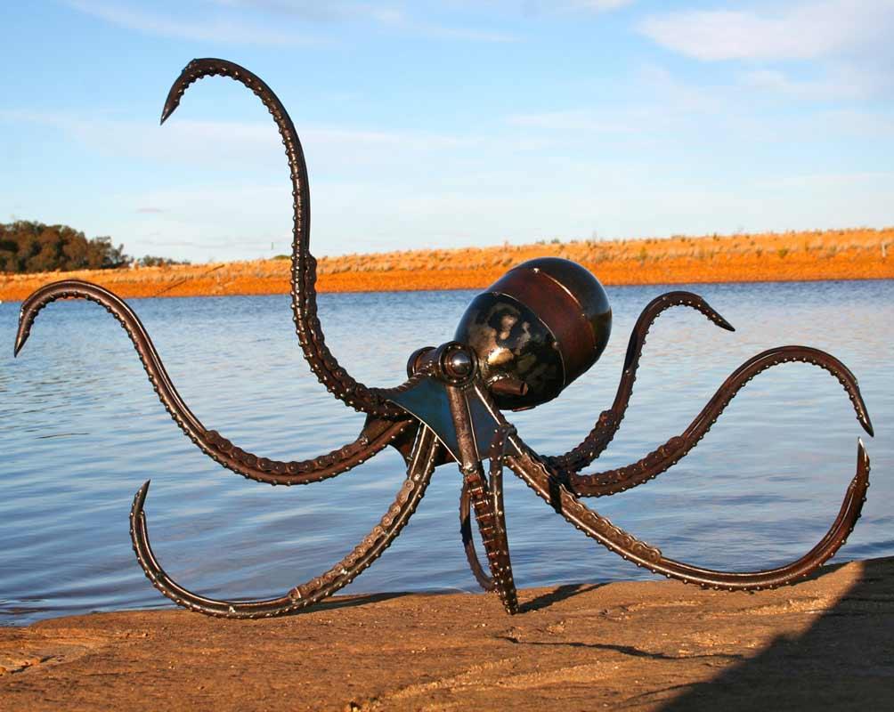 Jordan Sprigg The Kraken Metal Sculpture