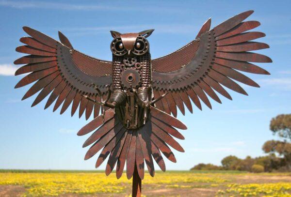 Jordan Sprigg The Night Hunter Metal Sculpture 2