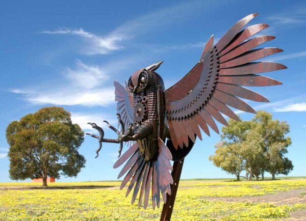 Jordan Sprigg The Night Hunter Metal Sculpture 3