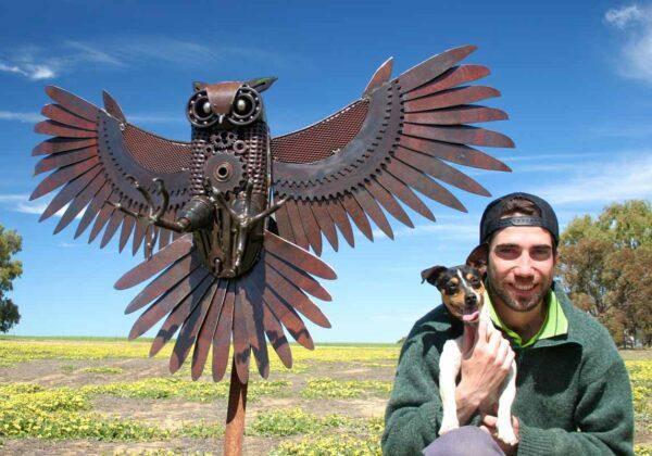 Jordan Sprigg The Night Hunter Metal Sculpture 4