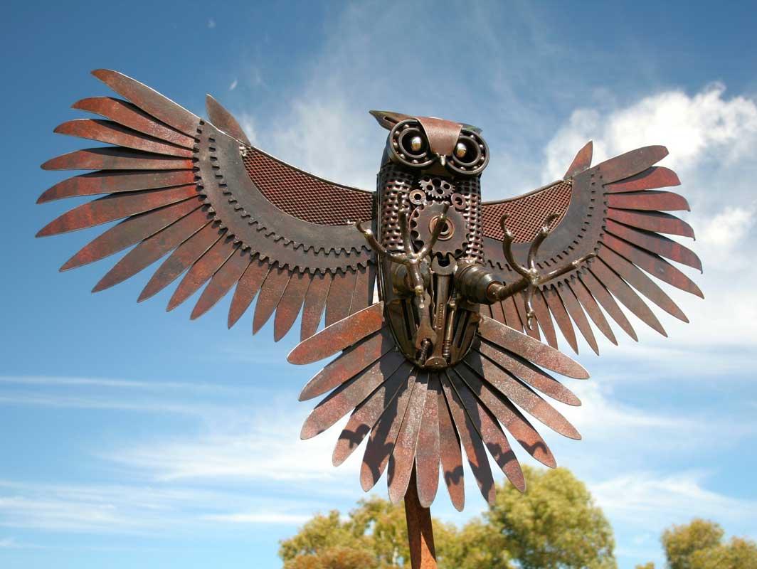 Jordan Sprigg The Night Hunter Metal Sculpture
