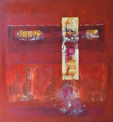 Ralph Stanton Red Cadenza Painting