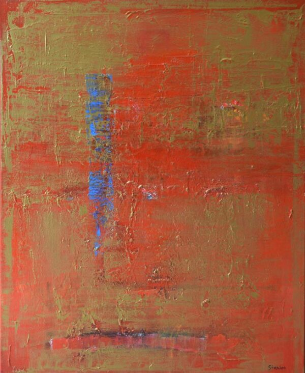 Ralph Stanton Red Gold Ii Painting
