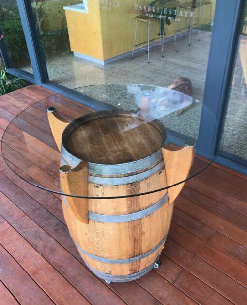Wine Barrel Bar Table 2