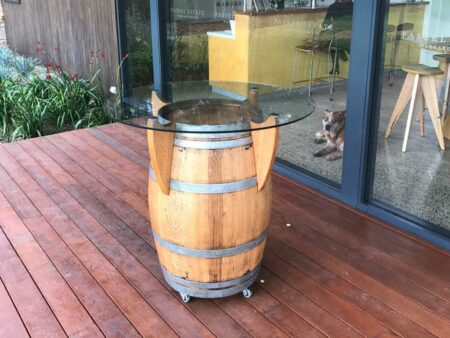 Wine Barrel Bar Table