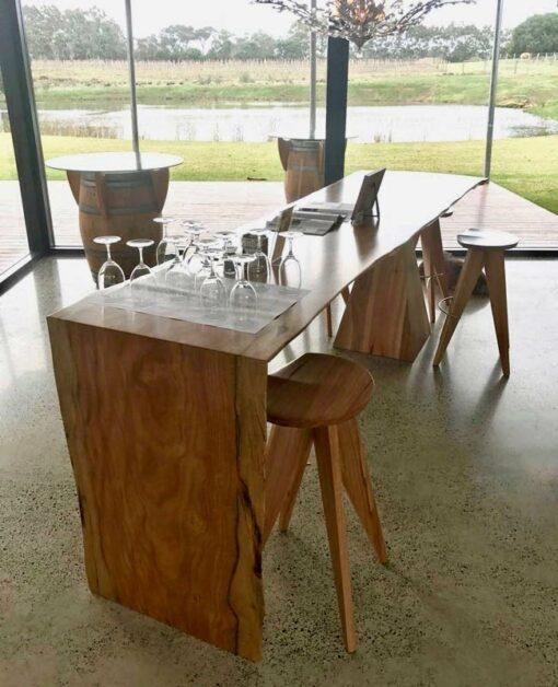 Wine Barrel Bar Table At Passel Estate 2