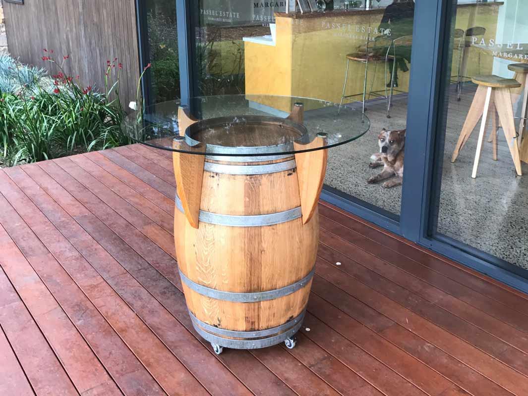 Passel Estate Wine Barrel Bar Table Fine Furniture Design Fine