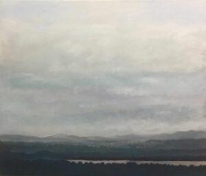 David Giles Lake And Mountains Painting