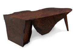 Folded Ranges Designer Burl Desk Fine Art