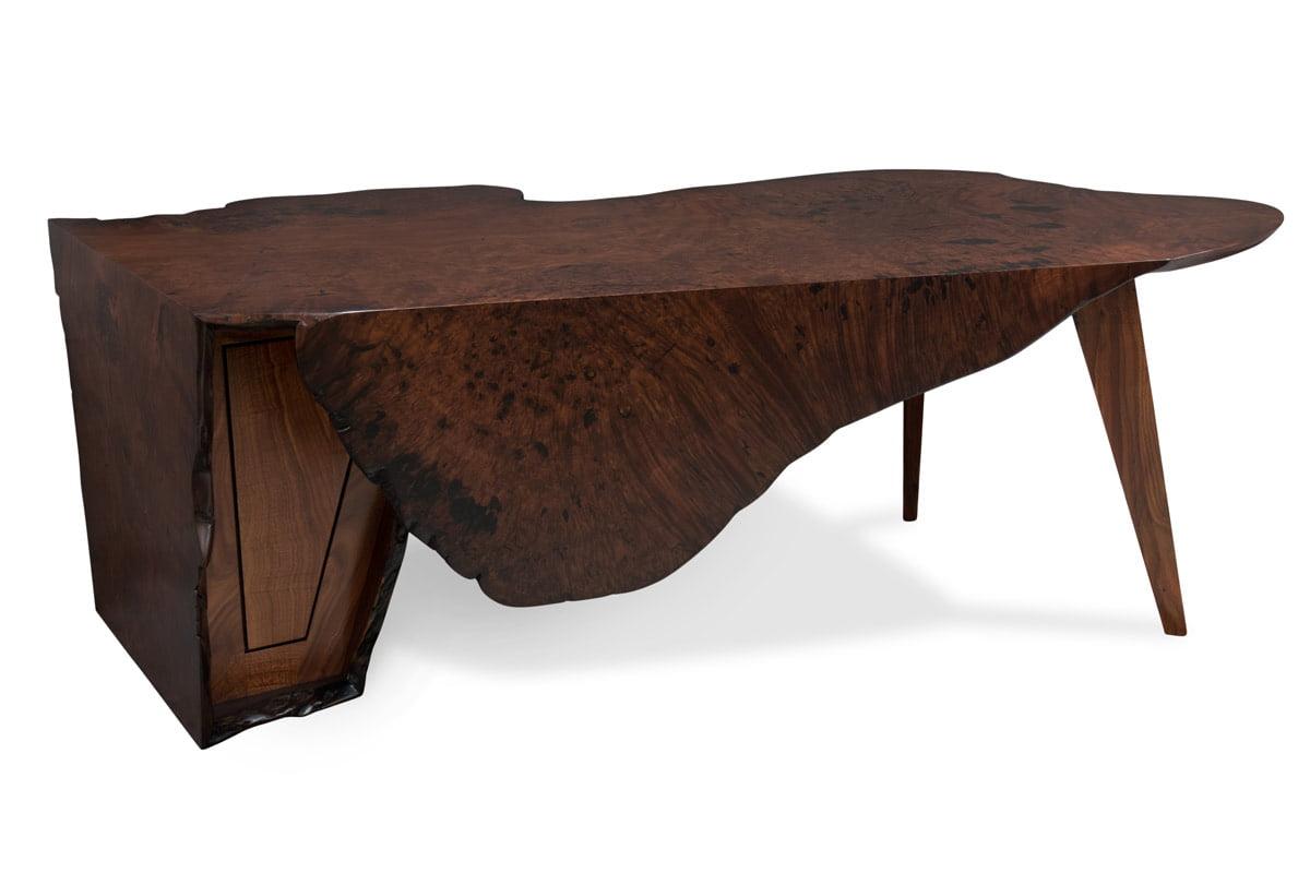 Folded Ranges Designer Burl Desk Back