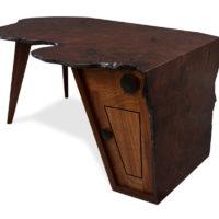 Folded Ranges Designer Burl Desk