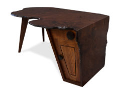 Folded Ranges Designer Burl Desk Fine Art