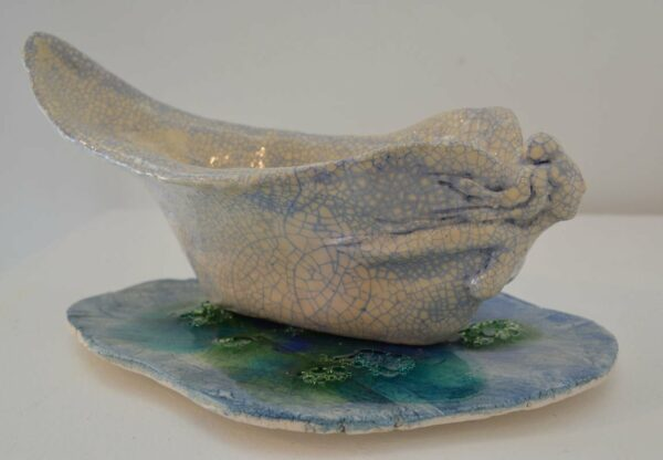 Lauren Rudd Metamorphisis The Mask Sails Away Sculpture 2