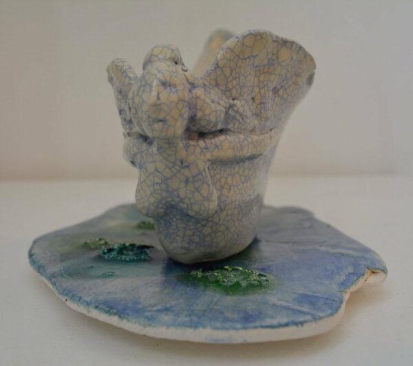 Lauren Rudd Metamorphisis The Mask Sails Away Sculpture 3
