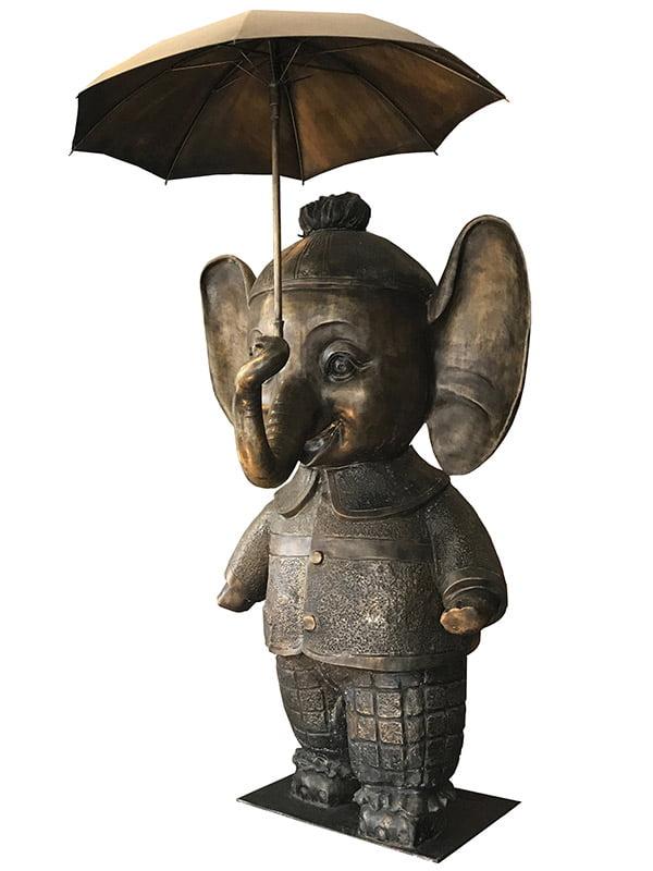 Best Friend Elephant Bronze Large David Bromley Sculpture