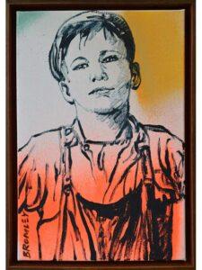 Dbr271 David Bromley Tough Boy Painting