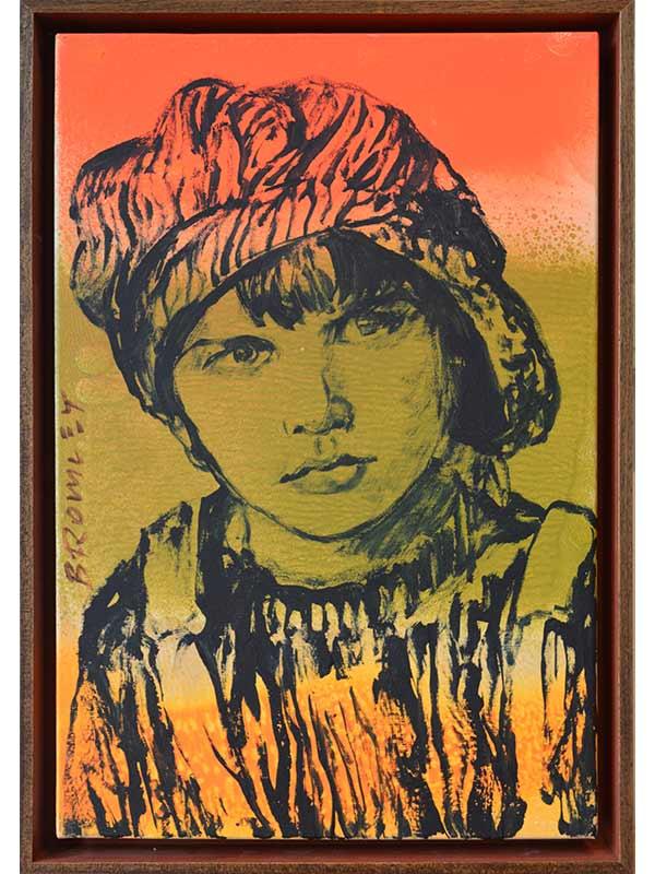 Dbr272 David Bromley Paper Boy Painting