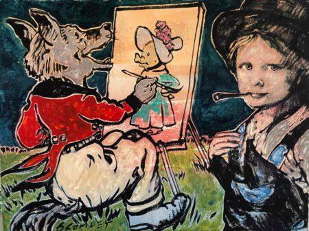 David Bromely The Fox Plein Air Painting
