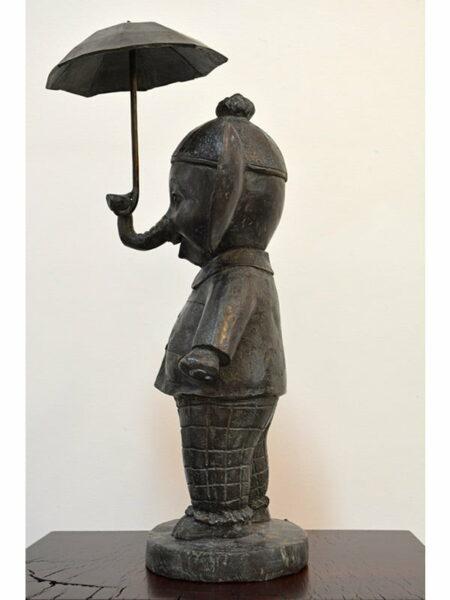David Bromley Best Friend Elephant Side Sculpture