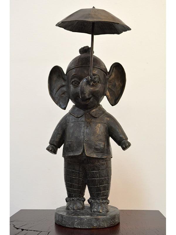 David Bromley Best Friend Elephant Small Front Sculpture