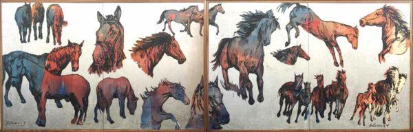 David Bromley Big Horses I Ii Together