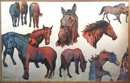 David Bromley Big Horses I Painting