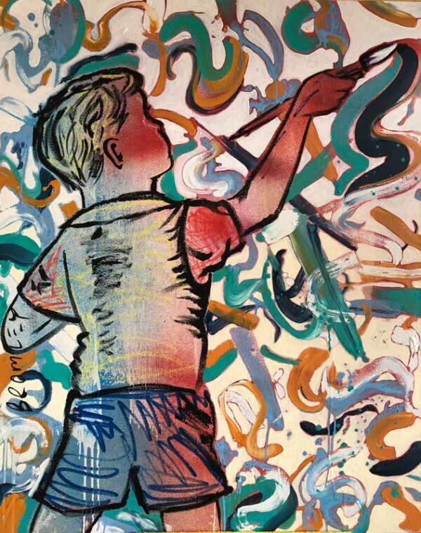 David Bromley Boy Artist Painting