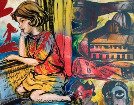 David Bromley Imagination Homage To Blackman Painting