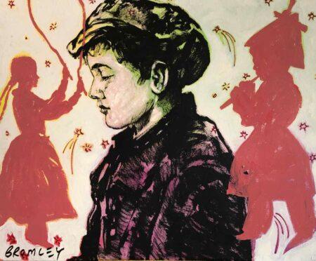 David Bromley Paper Boy Imagination Painting