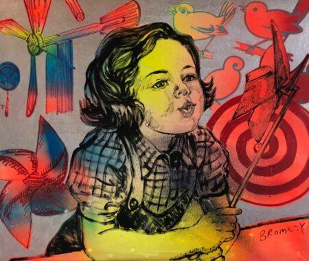 David Bromley Pinwheel Dreaming Painting