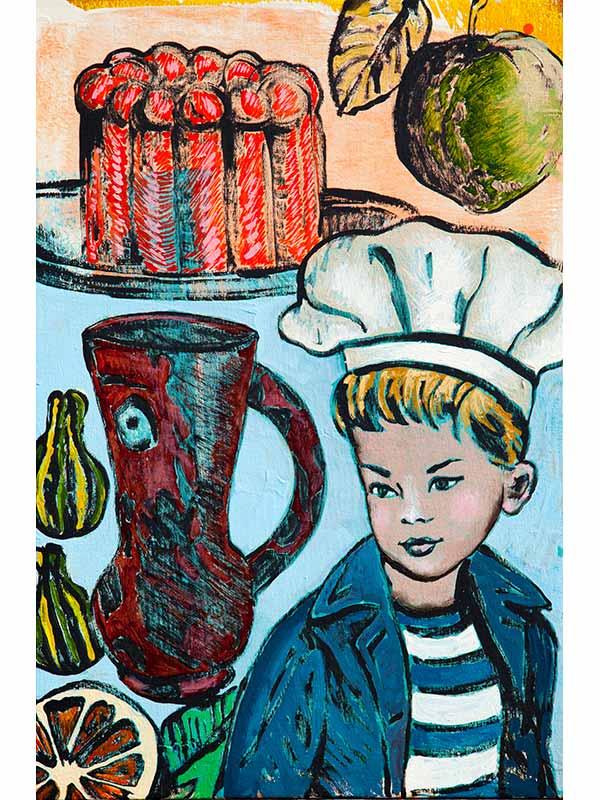 David Bromley Rebel In The Kitchen Artwork
