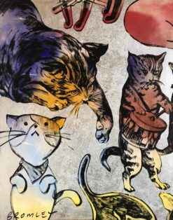 David Bromley The Cats Journey I left panel 247x314
