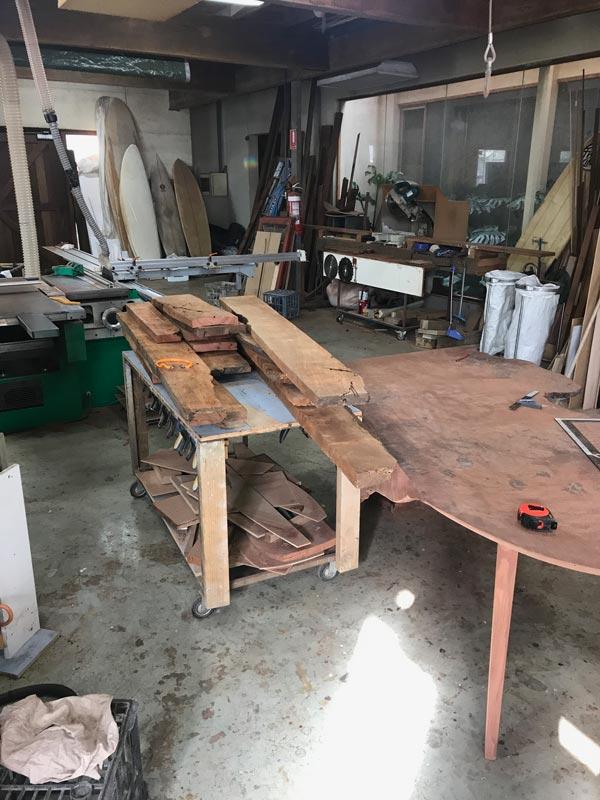 Folded Ranges Burl Desk In The Making 11