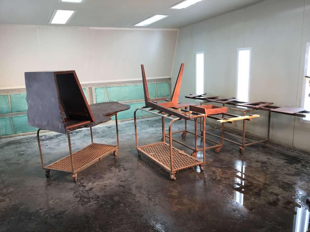 Folded Ranges Burl Desk In The Making 12