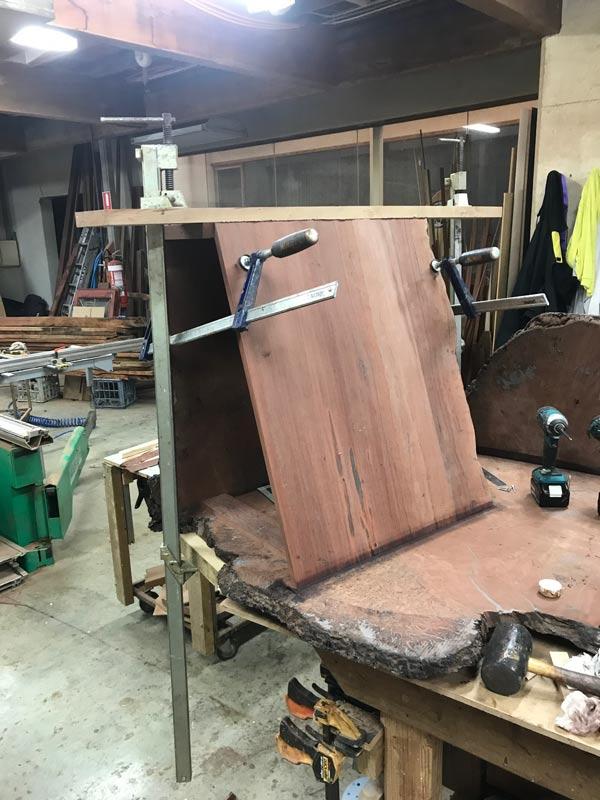 Folded Ranges Burl Desk In The Making 5