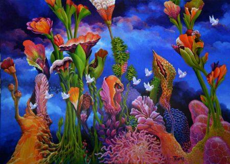 John Mcintosh Gallifrey Garden Painting