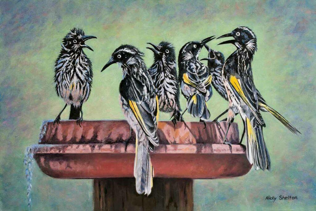 Nicky Shelton Family Reunion Bird Painting