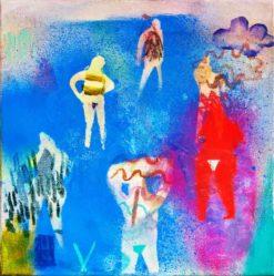 Becky Blair   Figure Study In Blue Fine Art