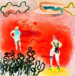 Becky Blair   Figure Study In Red Fine Art