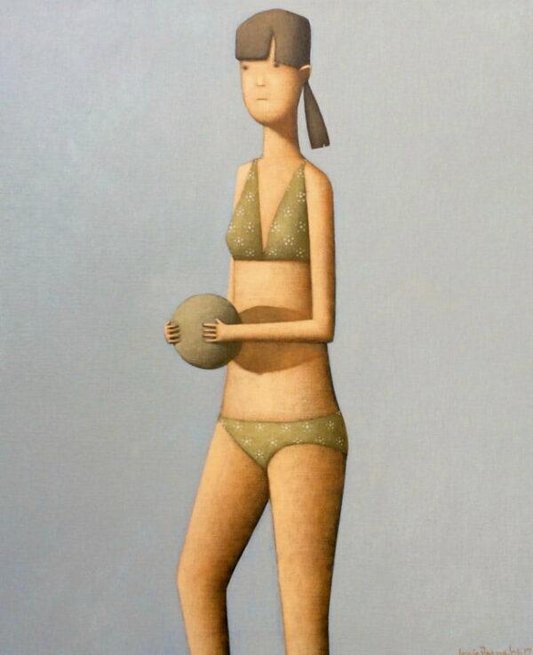 Craig Parnaby New Beach Girl Iv Painting