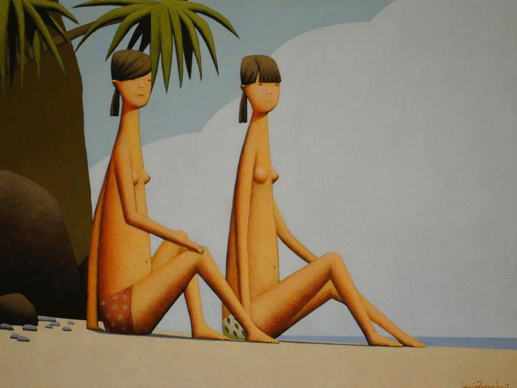 Craig Parnaby Summer Girls Ii Painting